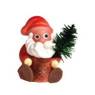 Mikuláš sedící se stromečkem – baleno v sáčku - marcipánová figurka - marcipán