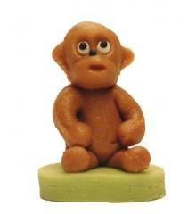 Opice – baleno v sáčku - marcipánová figurka - pravý marcipán z mandlí