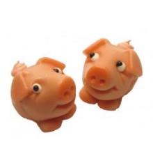 Prasátko Piggy  - baleno v sáčku - marcipánová figurka - pravý marcipán z mandlí