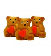 Medvídek se srdíčkem – baleno v sáčku - marcipánová figurka - pravý marcipán z mandlí