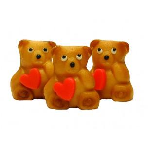 Medvídek se srdíčkem – baleno v sáčku - marcipánová figurka - marcipán